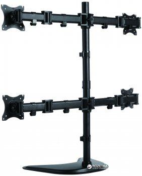 Настольная подставка для четырех мониторов ITech Black (MBS-22M)