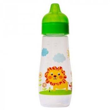 Пляшка пластикова з малюнком та силiконовою соскою 300 мл DYDUS b330 (зелена)