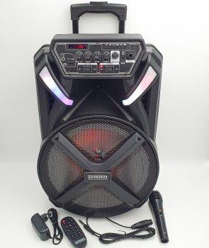 """Акустическая система аккумуляторная 150W чемодан Bluetooth колонка 12"""" микрофон пульт USB FM SOUNDBOX SB-450"""