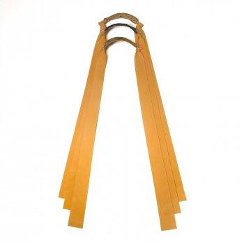 Комплект плоских резинок для рогатки Dext 3шт натуральный латекс желтая