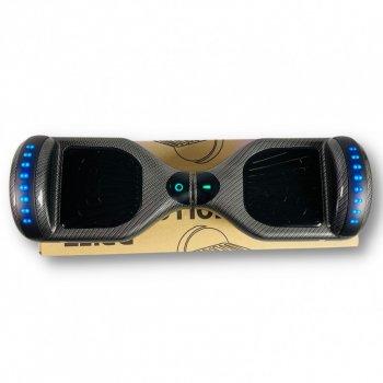 """Гироборд Smart Balance 6,5 дюймов"""" PRO 2021 Карбон АКБ Samsung 4400mAh / 700Вт Bluetooth-колонка и LED — подсветка колес"""