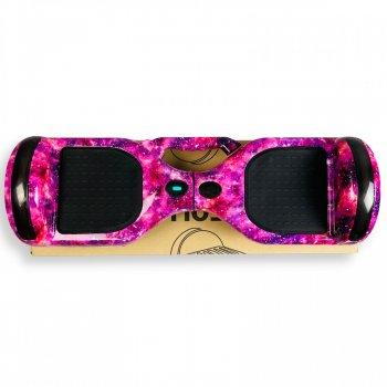 """Гироборд Smart Balance 6,5 дюймов"""" PRO 2021 Фиолетовый космос с ручкой АКБ Samsung 4400mAh / 700Вт Bluetooth-колонка и LED — подсветка колес"""