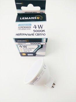 Лампа светодиодная MR16 4W G5.3 5000K 370Lm 175-265В LM3069 Lemanso