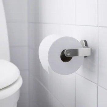 Держатель для туалетной бумаги IKEA BROGRUND нержавеющая сталь настенный (003.285.40)