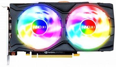 Видеокарта Inno3D, GeForce GTX 1660 Ti, TWIN X2, 6Gb GDDR6, 192-bit, HDMI/3xDP, 1770/12000 MHz, 8-pin (N166T2-06D6-1710VA15)
