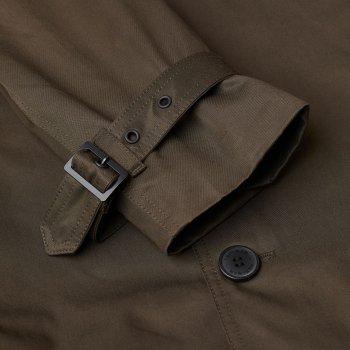 Пальто H&M 1804-7586262 Темно-зелене хакі