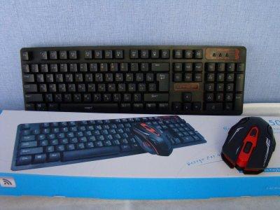 Клавіатура + мишка бездротова UKC HK6500 з адаптером