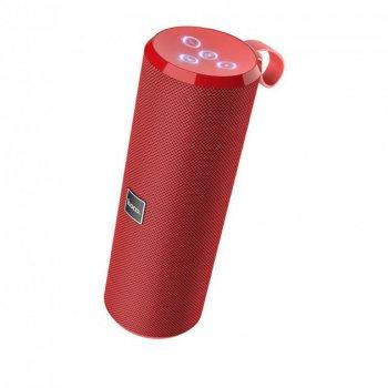 Портативна блютуз колонка HOCO BS33 Sport IPX5 |AUX, Micro-SD card, FM-Radio, USB| Червоний