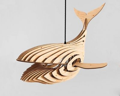Люстра деревянная Wood Сонце 60/60/40 см