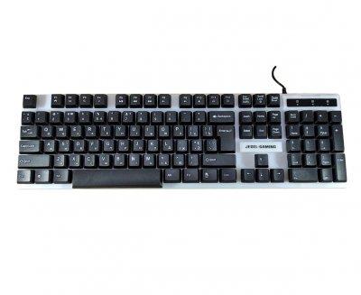 Комплект дротова клавіатура LED і оптична миша UKC COMBO GK100+ з кольоровою підсвіткою