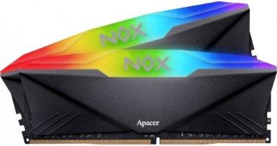 Пам'ять DDR4 RAM 16GB Apacer 3000MHz PC4-24000 (Kit of 2x8GB) NOX RGB (AH4U16G30C08YNBAA-2)