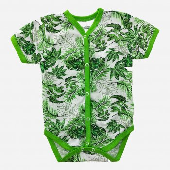 Боди-футболка Малыш style БД-12 Зелёный/Листья
