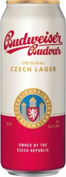 Набір упаковка пива Budweiser світле фільтроване 5% 0.5 л x 6 шт. + термосумка (8594403706949)