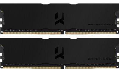 Оперативная память Goodram DDR4-3600 16384MB PC4-28800 (Kit of 2x8192) IRDM Pro Deep Black (IRP-K3600D4V64L18S/16GDC)
