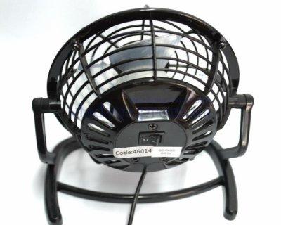 Вентилятор настольный USB для ноутбука ПК или в авто чёрный 816