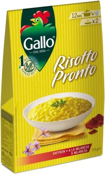 Ризотто Riso Gallo с шафраном 175 г (8001420006780)