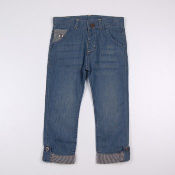 Джинсы с пуговицами на подворотах Z 60079-jeans джинс цвет