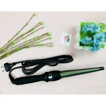 Плойка для волос конусная для локонов профессиональная для завивки волос с керамическим покрытием 32мм ProMozer MZ-7010B Черный