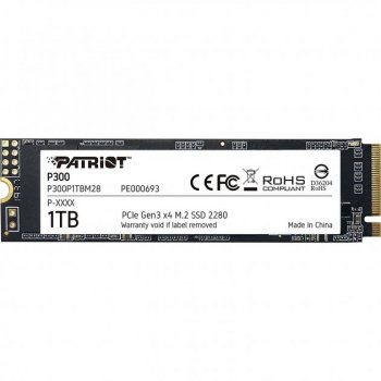 Patriot P300 NVMe SSD 1TB M.2 2280 PCIe 3.0 x4 TLC (P300P1TBM28)