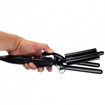 Плойка щипцы для волос тройная профессиональная 19мм ProMozer MZ-6621 Черная
