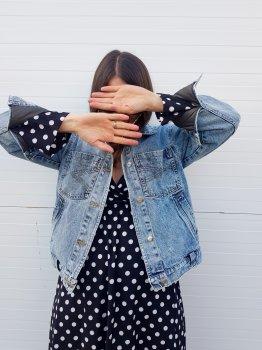Джинсовая куртка Lilo Basic сине-голубая