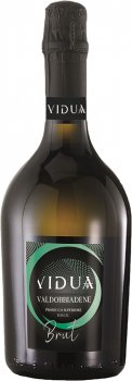Вино игристое Vidua Valdobbiadene Prosecco Superiore DOCG Brut белое сухе 0.75 11% (8020502084034)