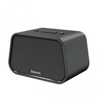 Акустична система Baseus Encok Multi-functional wireless speaker E02 (Aluminum alloy+U disk/TF card/AUX) Black (NGE02-01)