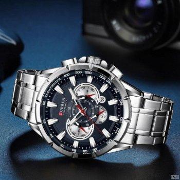 Наручний годинник AlexMosh чоловічі Curren Silver-Blue (10080260)