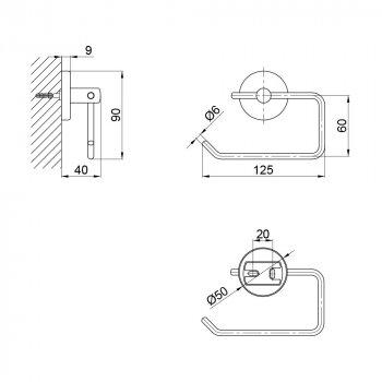 Тримач для туалетного паперу SW 22-104CRM