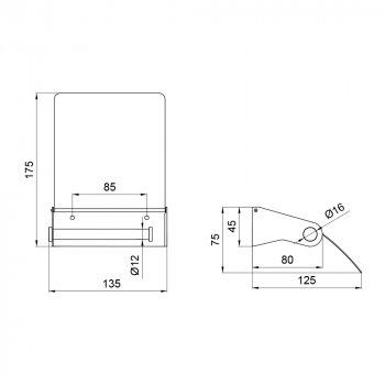 Тримач для туалетного паперу Lidz (CRM) 121.04.05