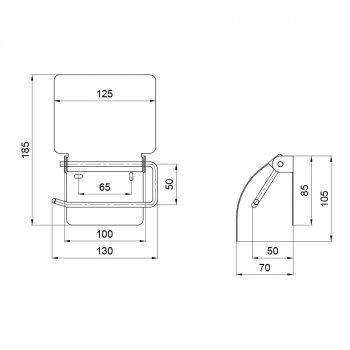 Тримач для туалетного паперу Lidz (CRM) 121.04.04