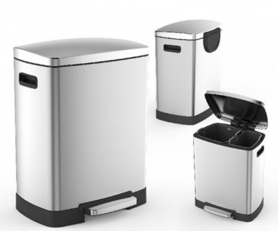 Контейнер для сміття AWD Interior кв. 40л (25л +15л) матовое без відбитків