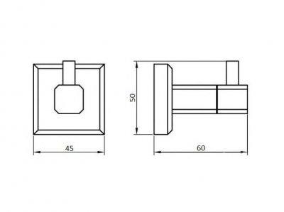 Крючок Perfect Sanitary Appliances одинарный 9915 латунь