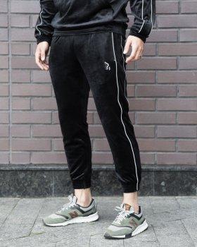 Cпортивные штаны велюровые Пушка Огонь Flat черные