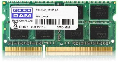 Пам'ять SoDDR3 8GB GOODRAM 1600MHz (PC12800) 1.35 V (GR1600S3V64L11/8G)