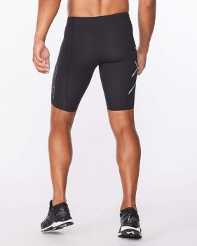 Чоловічі компресійні шорти 2XU, Core Compression Shorts, чорний/чорний логотип