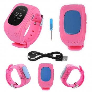 Дитячі годинник Smart Baby Watch Q50 GPS Рожевий