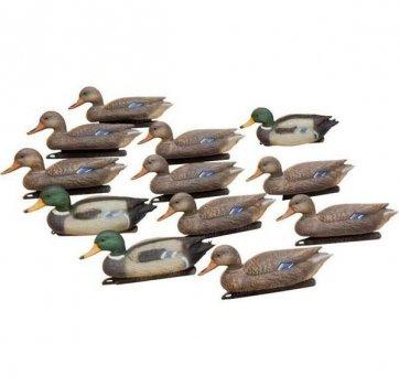 Набір підсадних качок Hunting Birdland :3 селезня, 9 качок, якірні пристрої