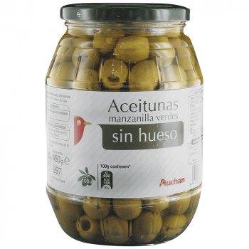 Оливки зеленые Auchan без косточки, 920 г