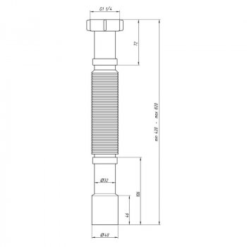 Гибкая Труба Ani Plast К207 1 1/4Х32/40