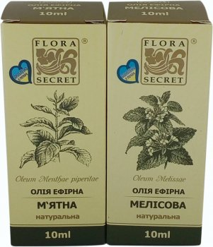 Эфирные масла Flora Secret Пара ментоловая 10 мл х 2 шт (4820112081003)