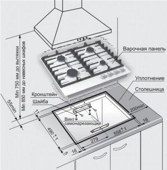 Варочная поверхность газовая GEFEST ПВГ 1214-01