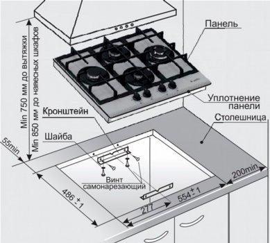 Варочная поверхность газовая GEFEST ПВГ 2231-01 P12