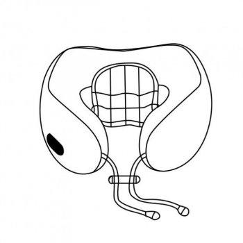 Подушка массажная U-Shaped Massage Pillow массажер для шеи Серо Фиолетовый