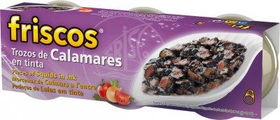 Кальмары Friscos нарезанные кусочками в собственных чернилах 3 шт х 80 г (8410315134123)