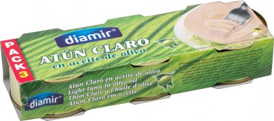 Тунец Diamir в оливковом масле 3 шт х 80 г (8436007956187)