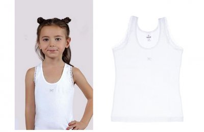 Майка для девочек, 2шт, 4336, Baykar, 05, белый