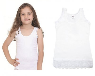 Майка для девочек, 2шт, 4055, Baykar, 04, белый