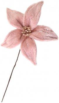 Цветок пуансетии Yes! Fun пушистый 25х25 см Розовый (973547) (5056137185474)