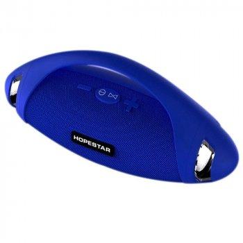 Беспроводная Портативная Влагозащищенная Колонка Bluetooth HOPESTAR H37 Синий (90031)